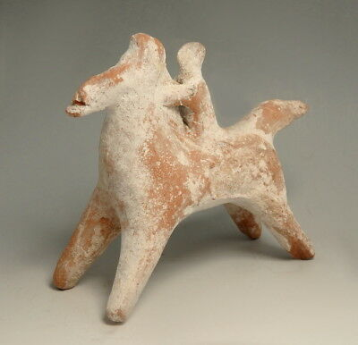 Greek Boeotian Terracotta Horse And Rider (M142)