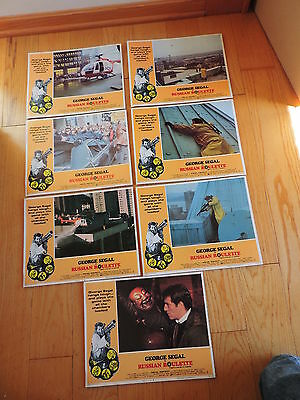 Movie lobby cards RUSSIAN ROULETTE GEORGE SEGAL Original 7 free shipping