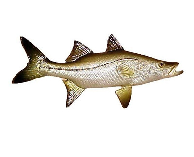 "12"" SNOOK Saltwater Nautical Hanging Decor Bath Beach Ocean Aquatic Tropical"