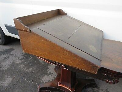 Antique Victorian Mahogany Clerks Desk Table Top Writing Slope With Book Shelf