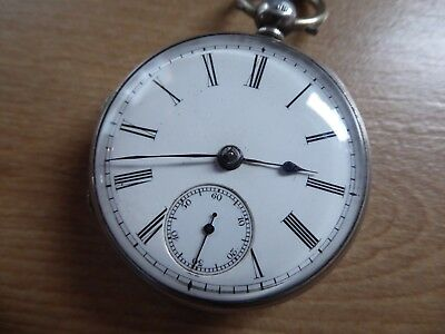 Quality Gents Silver  Antique Fusee  Pocket Watch    Dates 1857