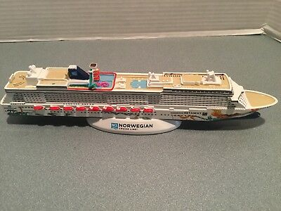 "NCL Norwegian Cruise Line "" GETAWAY "" Cruise Ship Model 13 1/4"" inches Resin"