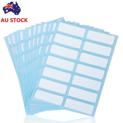24 Sheets Adhesive Sticky White Label Blank Stickers Note Tags Craft 13*38mm