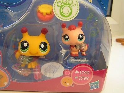 LITTLEST PET SHOP 1798 1799 Bumble Bees with Bobble Heads