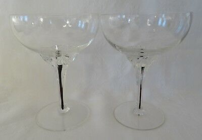 """BELFOR CRYSTAL Bohemia EXQUISITE Lot 2 Champagne Glass 5"""" high"""