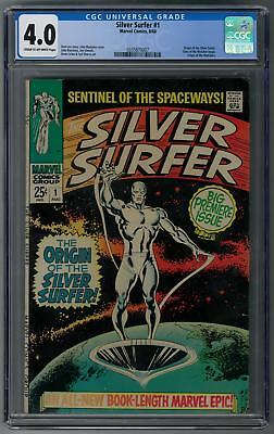 Silver Surfer #1 CGC 4.0 (C-OW) Origin of the Silver Surfer and the Watchers