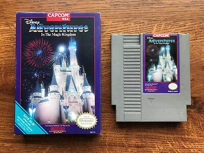 Adventures in the Magic Kingdom COMPLETE game w/ Box Nintendo NES - TESTED