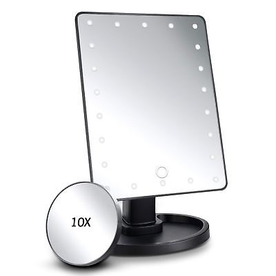 Secrets Fashion Beauty LED Make Up Magnifying Mirror With Touch Light Control