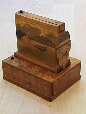 1930's Art Deco Novelty Wooden Cigarette Box Thought to be made in Japan