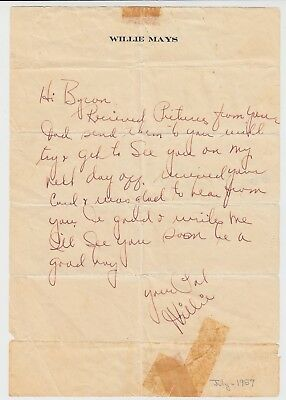 WILLIE MAYS 1957 Original Autograph Letter SIGNED on Personal Letterhead HOF