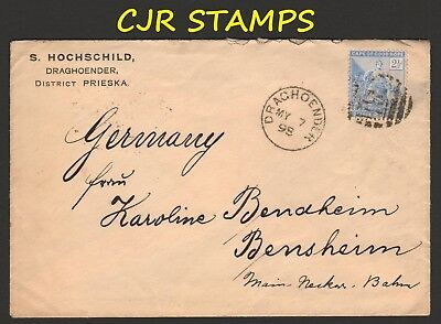 South Africa -  Cape Of Good Hope  1898  Cover To Germany