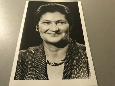 SIMONE VEIL  - PHOTO DE PRESSE ORIGINALE  14x20cm