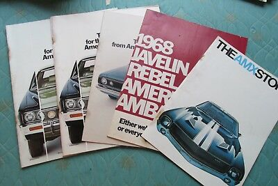 Lot of fifteen American Motors AMC & Jeep sales brochures from the 1970's