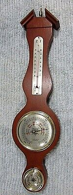 Banjo 1970's Tradition Japan Wood Wall Barometer Thermometer Hygrometer FREE S/H