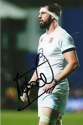 Tom Wood - England Rugby - Signed 6X4 Photo