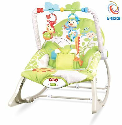 Baby Rocker Swing Reclining Chair Bouncer Lay & Play For Infants & Toddlers 0M+