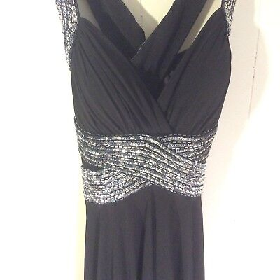 5e12a5197c249 Camille La Vie Womens Cocktail Dress Black Sequins Wedding Party Dance Size  10