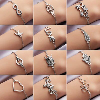 Fashion Simple Style Silver Plated Bracelet Wedding Banquet Jewelry Charm Gift