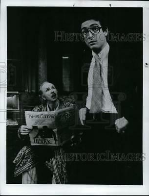 1973 Press Photo Jack Alberson and Lewis Stadlen in The Sunshine Boys.