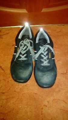 Food Industry Work Shoes Chef's Catering Hospital Black Anti Slip Lace Up