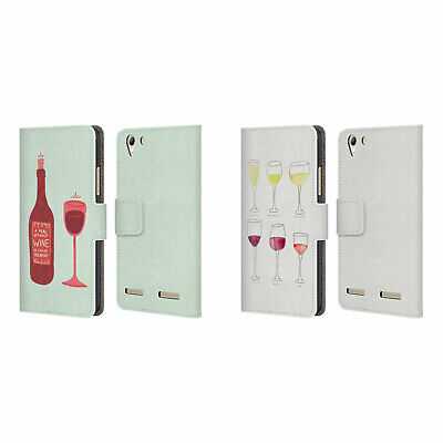 Official Cat Coquillette Wine Leather Book Wallet Case Cover For Lenovo Phones