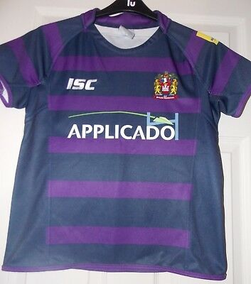ISC Wigan Warriors Away 2013 Shirt size on tag  age 14 yrs approx 34 chest