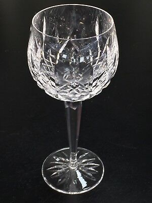 "Waterford Crystal Lismore Hock Wine Goblet Glasses 7 3/8"" Tall (18 available)"