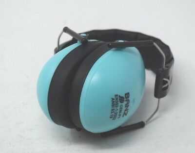 Baby Banz Blue Earmuffs Kids Hearing Protection - Ages 2+ New Open Box