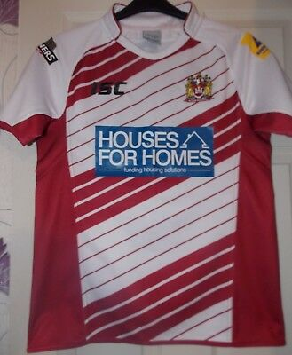 ISC  Wigan Warriors Home 2014 Shirt size on tag Small  approx 38 inch chest