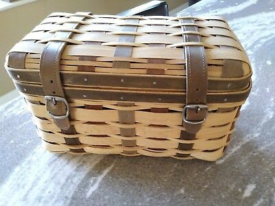 Longaberger RARE Collector Club Trunk Basket MINT condition FREE SHIPPING!