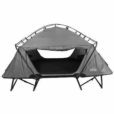 Kamp-Rite 2 Person Folding Off the Ground Camping Bed Double Tent Cot, Gray