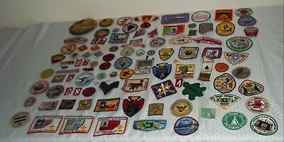 101 Different Vintage Boy Scout Patches Huge Lot Collection 1960s 1970s 80s BSA