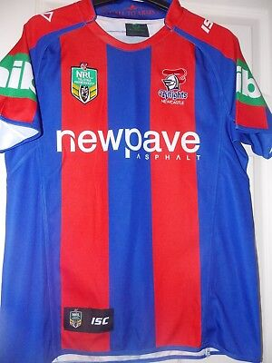 """ISC NRL Newcastle Knights Home 2015 Shirt 2015 season size on tag large App 44"""""""