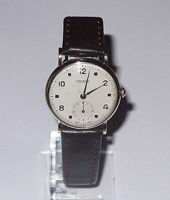 1940's GENTS 9ct GOLD CASED ROTARY MANUAL WRISTWATCH - Scarce