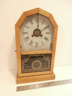 Antique 1880's Mantle Clock OCT ROCKET TIMEPIECE Jerome & Co NEW HAVEN Chime