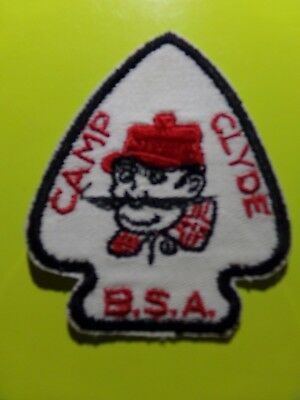 "Vintage Boy Scouts Of America ""camp Clyde"" Patch"