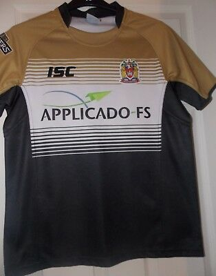 ISC Wigan Warriors Away 2012 Shirt size on tag  medium approx 38 chest