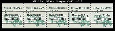 US #2123a MNH PNC5 Pl #2 School Bus