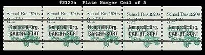 US #2123a MNH PNC5 Pl #1 School Bus