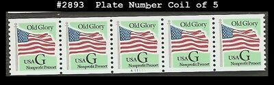 US #2893 MNH PNC5 Pl #A11111 G-rate Old Glory