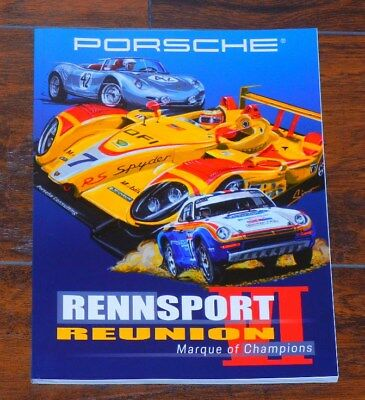 Porsche Rennsport Reunion 2018 New Never Read 146 Page Program Of The Event.