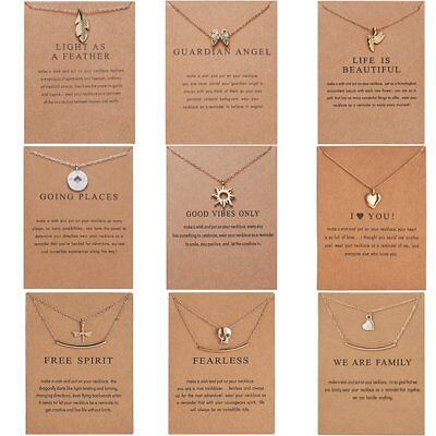 Women Charm Necklace Pendant Gold Clavicle Chains Choker Card Jewelry Gift Party