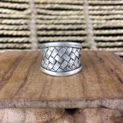 Antique Old Chinese Rare Tibet Silver Handwork Collectible No.7 usable Ring