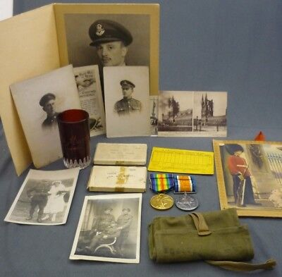 WWI Canadian Grouping Medal Duo 1914-1918 & Photos 154174 SPR W.D. MURRAY C.R.T.