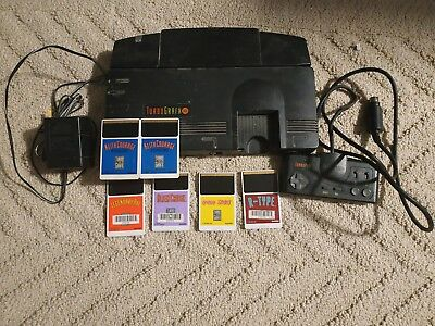 NEC TurboGrafx-16 Console, power supply, controller, and 6 games