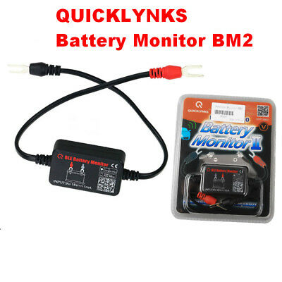 QUICKLYNKS Battery Monitor BM2 Bluetooth 4.0 Device For iOS & Android APP