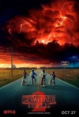 STRANGER THINGS 2 ~ TEASER ~ EVIL CLOUDS ~ 24x36 NETFLIX TV POSTER ~ NEW/ROLLED!