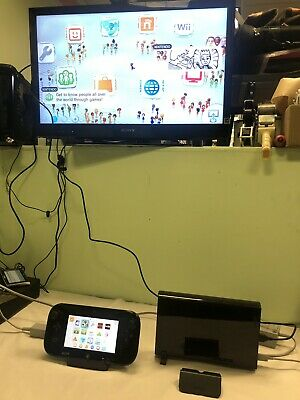 Black Nintendo Wii U Black Console 32GB (Model Number WUP-101(02)) USED WORKING