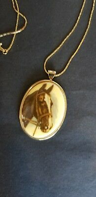 Horsehead Cameo Necklace