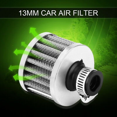 13mm Mini Car Motor Cold Air Intake Filter Turbo Vent Crank Breather Clean Air